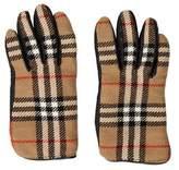 Burberry Nova Check Leather Gloves