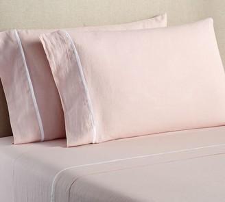 Pottery Barn Belgian Flax Linen Contrast Flange Pillowcases