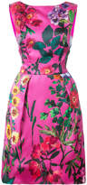 Monique Lhuillier floral structured dress