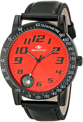 Seapro Men's SP5111 Raceway Analog Display Quartz Black Watch