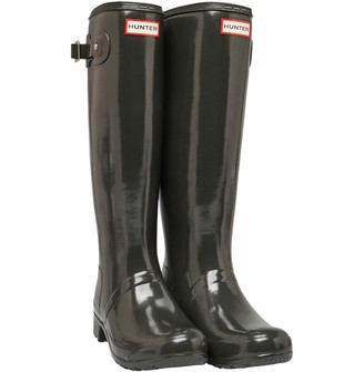 Hunter Womens Tour Gloss Wellington Boots Tarn