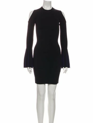 Nicholas Mock Neck Mini Dress w/ Tags Black