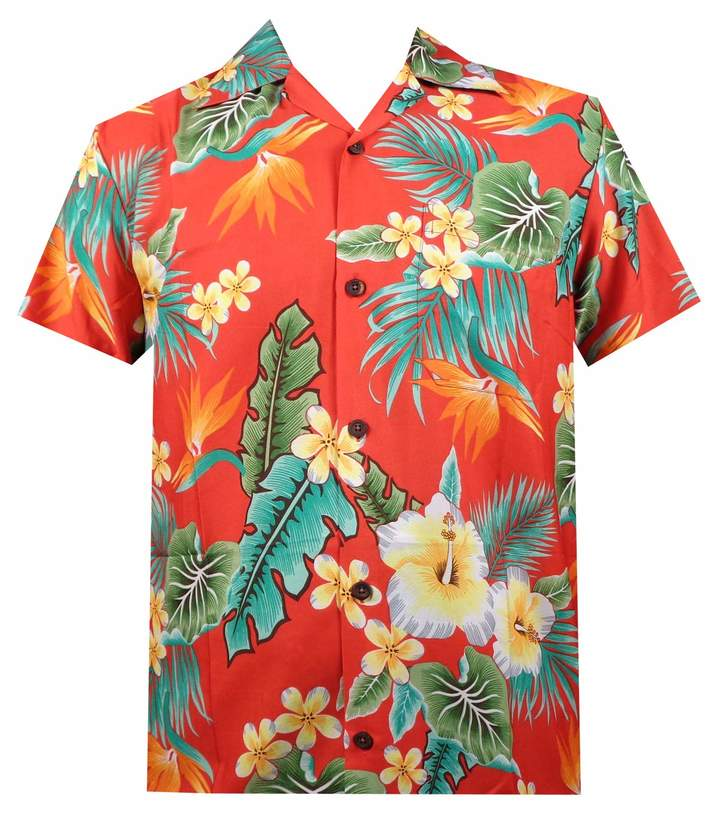 cce6a0b9e Mens Red Hawaiian Shirt - ShopStyle Canada