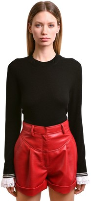 Philosophy di Lorenzo Serafini Cashmere Sweater With Lace Cuffs