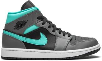 "Jordan Air 1 Mid Grey/Aqua"" sneakers"