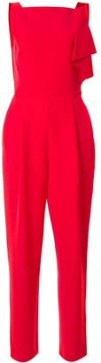 Emporio Armani ruffled sleeveless jumpsuit