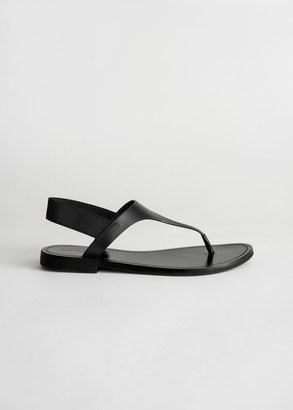 And other stories Leather T-Bar Strap Sandals