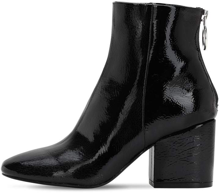 03cdde84f32 70MM FAUX PATENT LEATHER ANKLE BOOTS