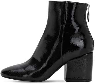 Steve Madden 70mm Faux Patent Leather Ankle Boots