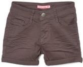 Cutie's Fashions Girls' Denim Shorts DARK - Dark Gray Cuffed-Hem Shorts - Girls