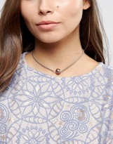 Asos Faux Pearl Chain Choker Necklace