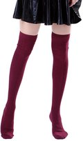 HDE Womens Opaque Solid Color Cable Knit Over the Knee High Stocking Socks