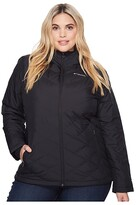 Columbia Plus Size Heavenly Hooded Jacket (Black) Women's Coat
