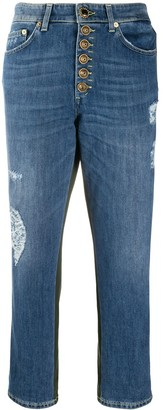 Dondup Cropped Patchwork Jeans