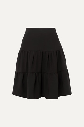 Chloé Tiered Crepe De Chine Skirt - Black