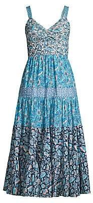 Rebecca Taylor Women's Mixed Floral Print Midi Dress
