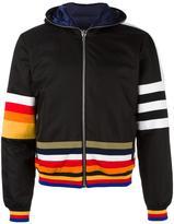 Iceberg striped hooded jacket