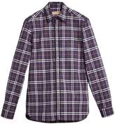 Burberry Embroidered Detail Check Cotton Shirt