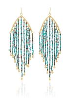 LFrank Turquoise Bead Feather Earrings