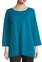 Caroline Rose 3/4-Sleeve Front-Pocket Tunic, Plus Size