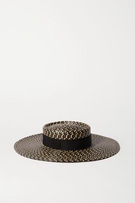 Eugenia Kim June Grosgrain-trimmed Faux Straw Hat - Black