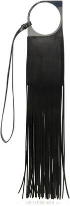 Paco Rabanne Mini Paquito Fringe Leather Shoulder Bag