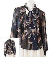 JLO by Jennifer Lopez kaleidoscope chiffon blouse