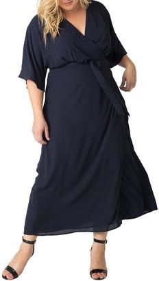 Standards & Practices Olivia Wrap Maxi Dress (Plus Size)