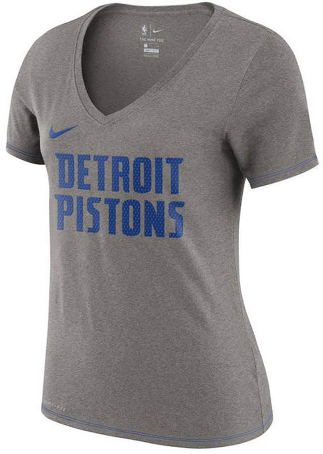 Nike Women Detroit Pistons Dri-Fit V-neck T-Shirt