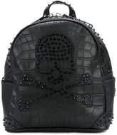 Philipp Plein skull embellished backpack