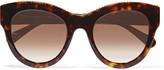Stella McCartney Round-frame chain-trimmed acetate sunglasses