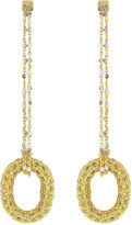 Carolina Bucci 1885 Yellow Sapphire Link Earrings