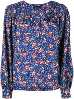 Isabel Marant floral open neck top - women - Silk/Cotton - 36