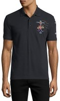 Valentino Tattoo-Embroidered Polo Shirt