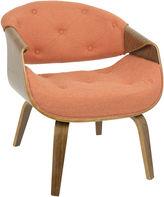 Asstd National Brand Curvo Mid-Century Tufted Armchair