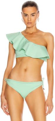 Johanna Ortiz Mint Cabana Bikini Top in Green Goddess | FWRD
