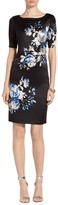 St. John Shadow Blossom Print Dress