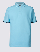 Blue Harbour Pure Cotton Textured Polo Shirt