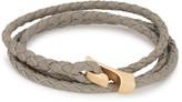 Miansai Ipsum Grey Leather Wrap Bracelet