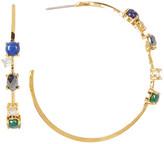 Botkier Stone Lined C-Hoop Earrings