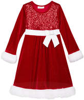 Bonnie Jean Sequin Santa Dress, Little Girls (4-6X)