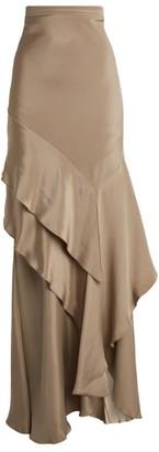 Max Mara Strano Silk Ruffle Skirt