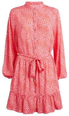Melissa Odabash Leopard Print Mini Shirt Dress
