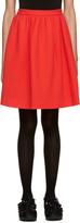 MSGM Red Circle Miniskirt