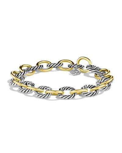 David Yurman Oval Link Bracelet with Gold