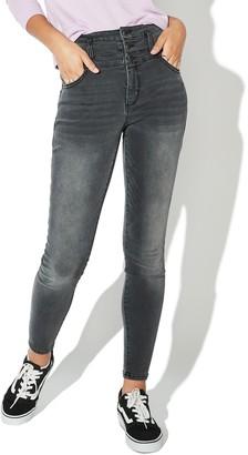 Juniors' Vylette Stacked-Waist Sculpt Skinny Jeans