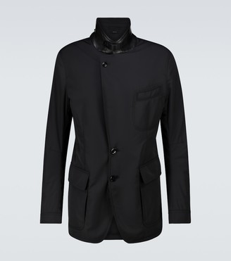 Tom Ford Padded ovatta technical blazer
