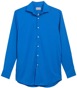 Perry Ellis Solid Slim Fit Dress Shirt