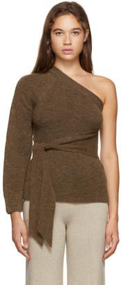 Nanushka Brown One-Shoulder Cleto Sweater