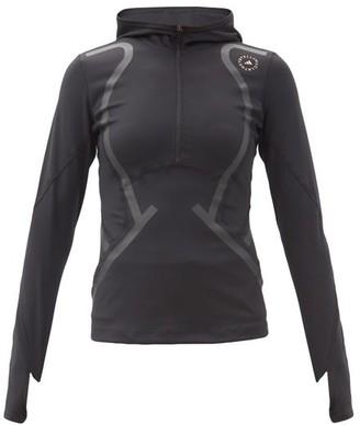 adidas by Stella McCartney Truepace Logo-print Hooded Top - Black
